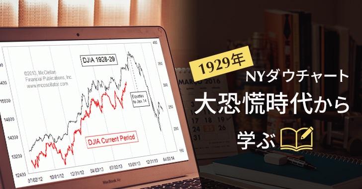 NYダウチャートの1929年大恐慌時代から学ぶ