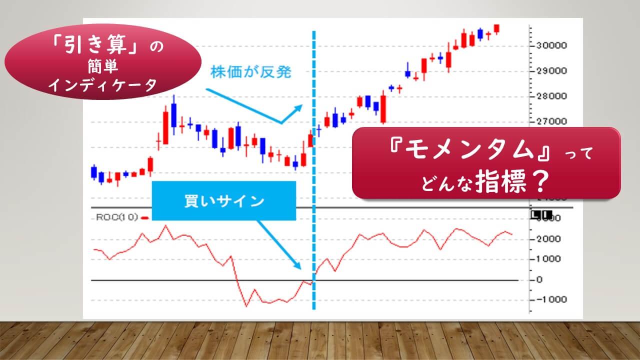 """株価トレンドと売買サインが分る""""魔法のチャート""""モメンタムとは"""